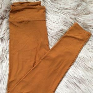 Burnt Orange LuLaRoe OS Leggings